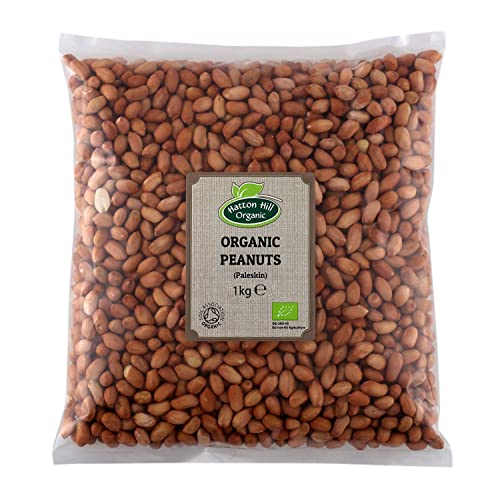 Organic Raw Peanuts (Paleskin) 1kg by Hatton Hill Organic - Certified Organic