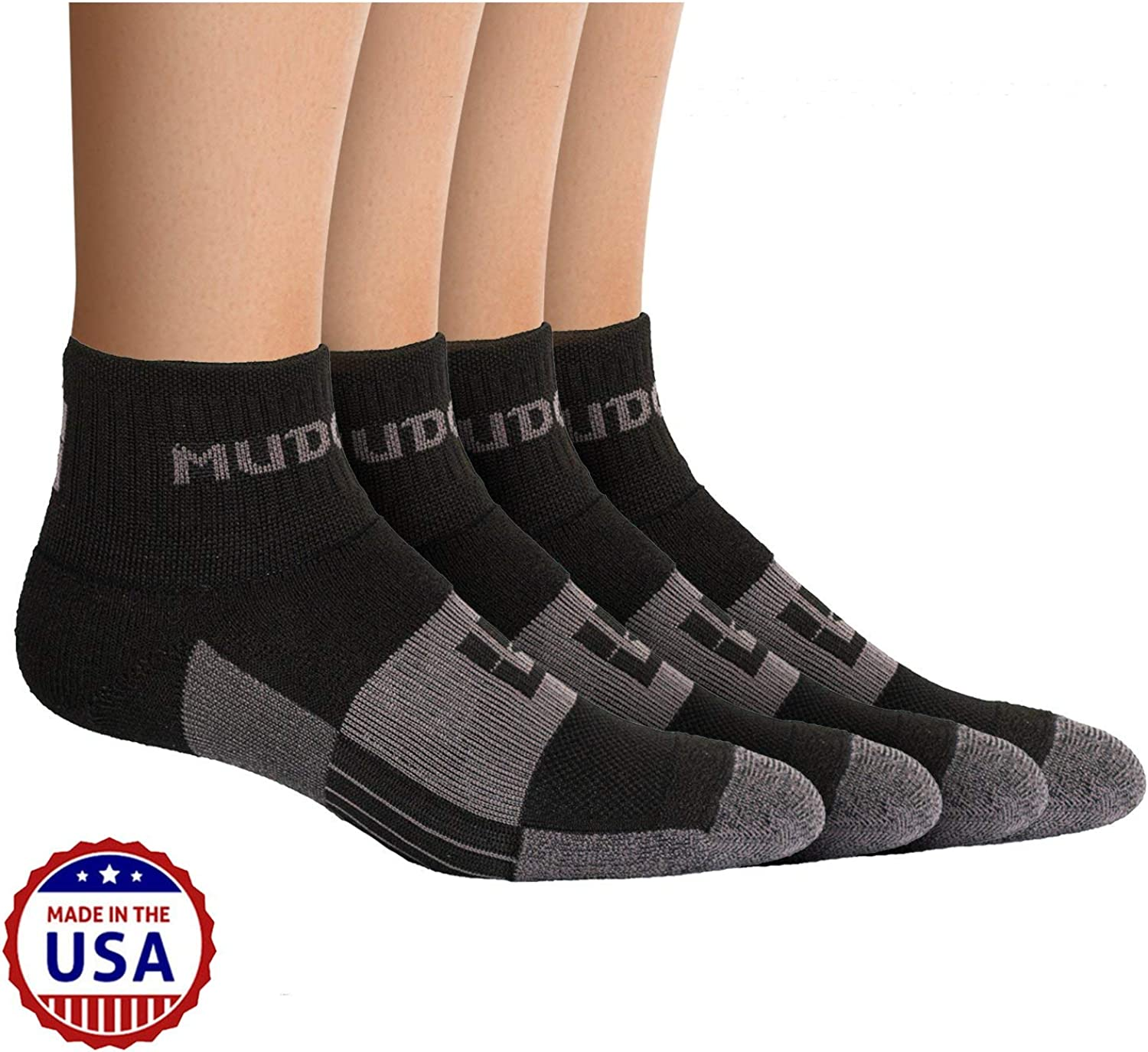 2 Pair Pack Made in USA MudGear Trail Running Socks for Men and Women