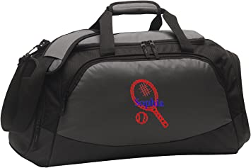 Personalized Tennis Active Gym Duffel Bag with Custom Text Large Sports Bag with Customizable Embroidered Monogram Design Lime Shock//Black