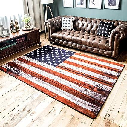 Amazon.com: SE7VEN British Wind Rice Word Flag Living Room Carpet ...