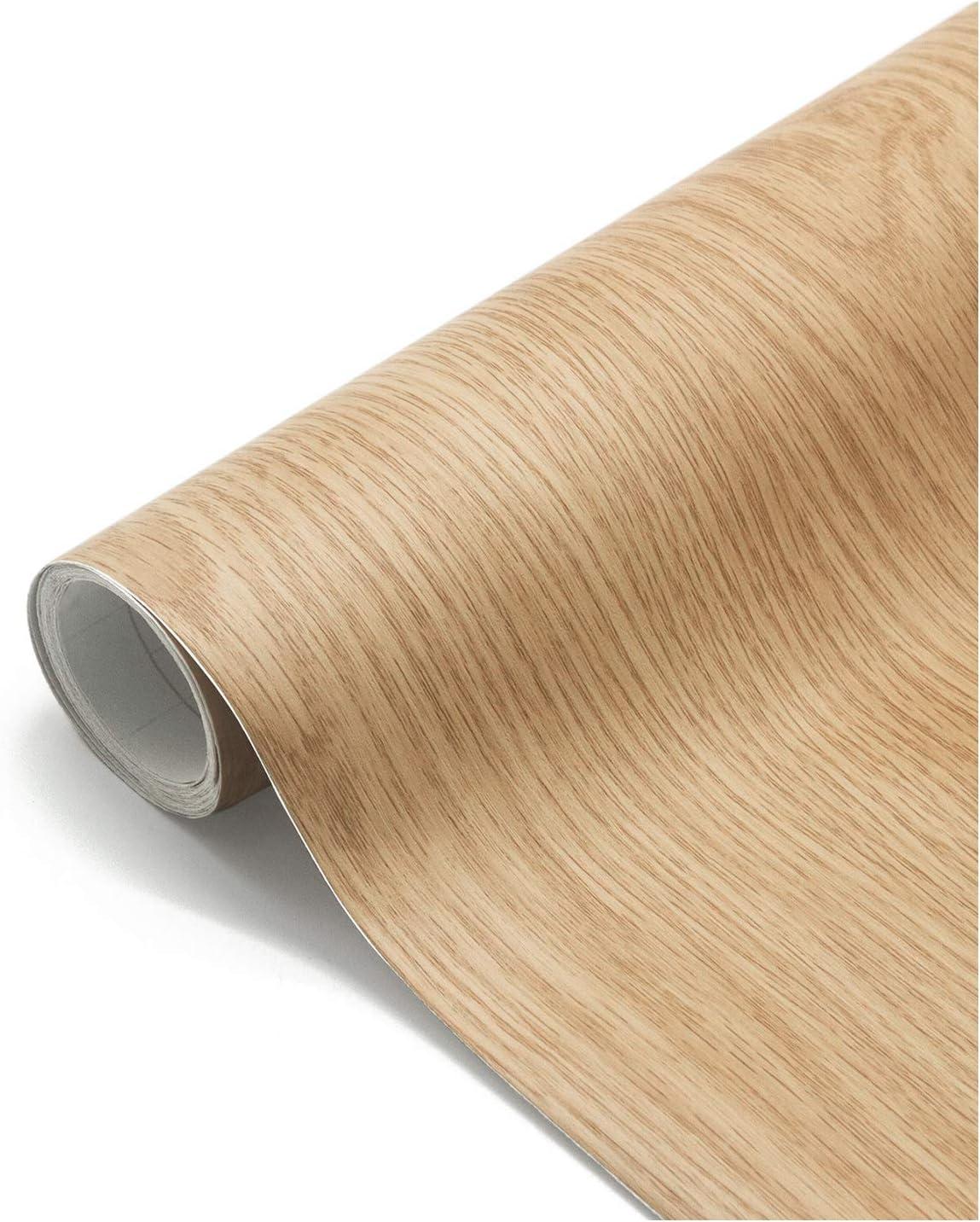 Papel Adhesivo Madera para Muebles 61x500cm, Espesar Duradero Vinilo Película Prueba de Aceite Impermeable Papel Pared para la Cocina Encimera Oficina, Type B: Amazon.es: Bricolaje y herramientas