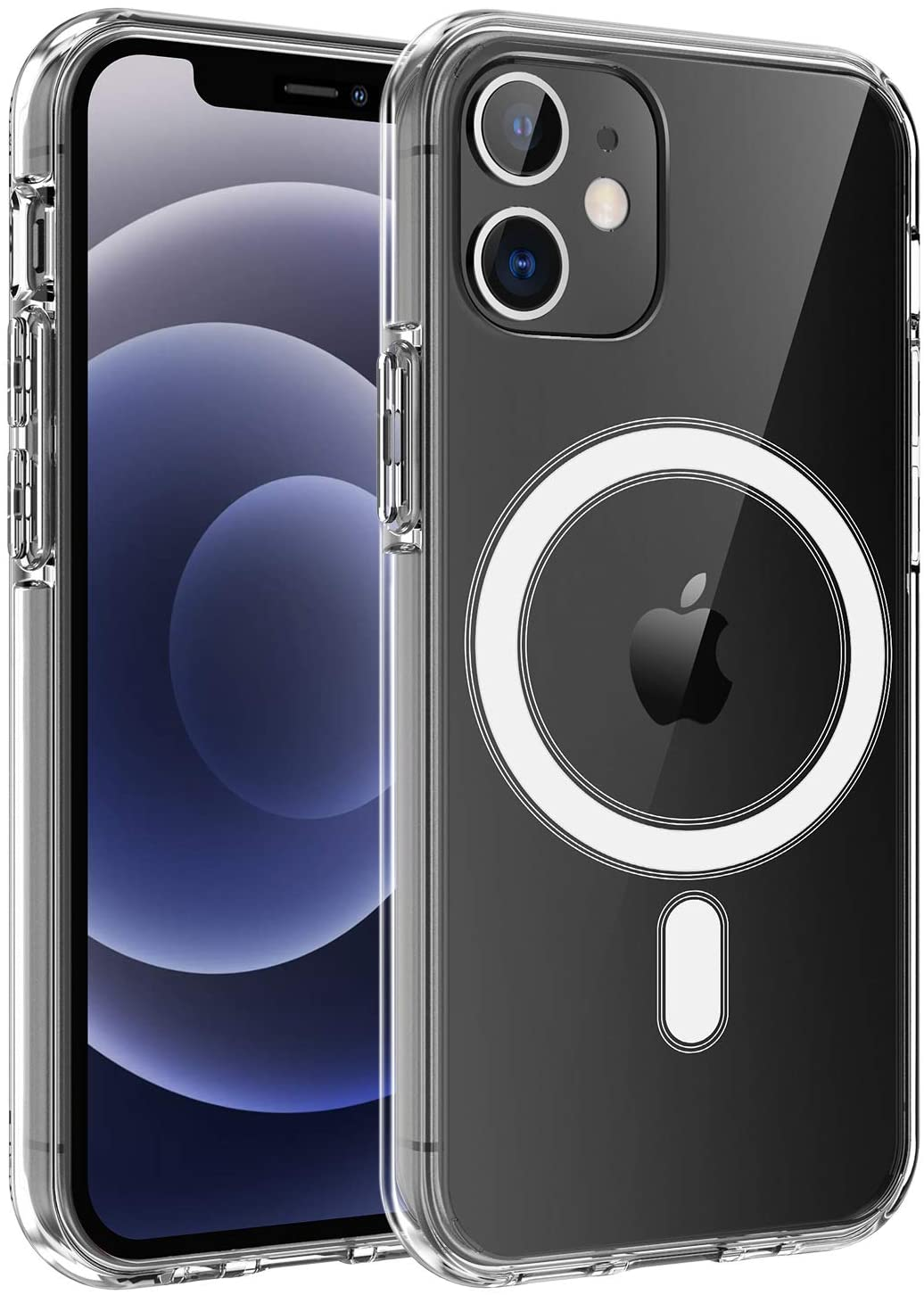 HVDI Clear Magnetic Case for iPhone 11 Pro Max with Mag-Safe Wireless Charging,Soft Silicone TPU Bumper Cover,Thin Slim Fit Hard Back Shockproof Anti-Yellow Protective Case for iPhone 11 Pro Max 6.5In