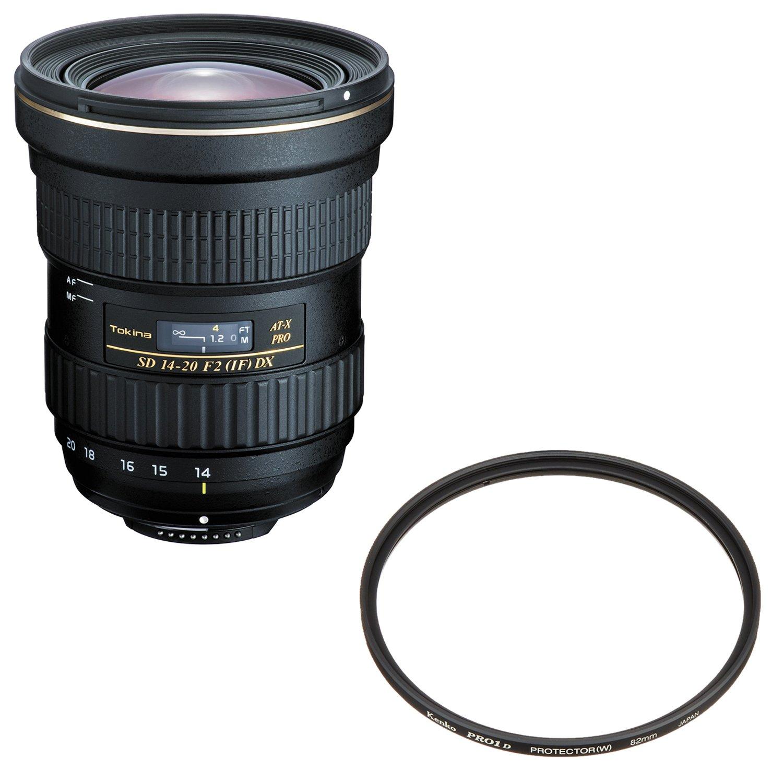 Tokina 超広角ズームレンズ AT-X 14-20 F2 PRO DX ニコンF用 APS-C対応 + Kenko レンズフィルター PRO1D プロテクター (W) 82mm レンズ保護用 252826 セット フィルターセット  B06XXFWQP2