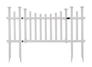 Zippity Outdoor Products ZP19028 Unassembled Madison Vinyl Gate Kit with Fence Wings, White