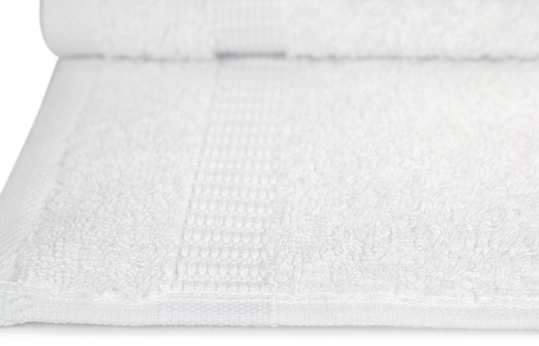 Elina Home NAP-6 Luxury Cotton Washcloths Easy CareFingertip Towels White Elina Fashion