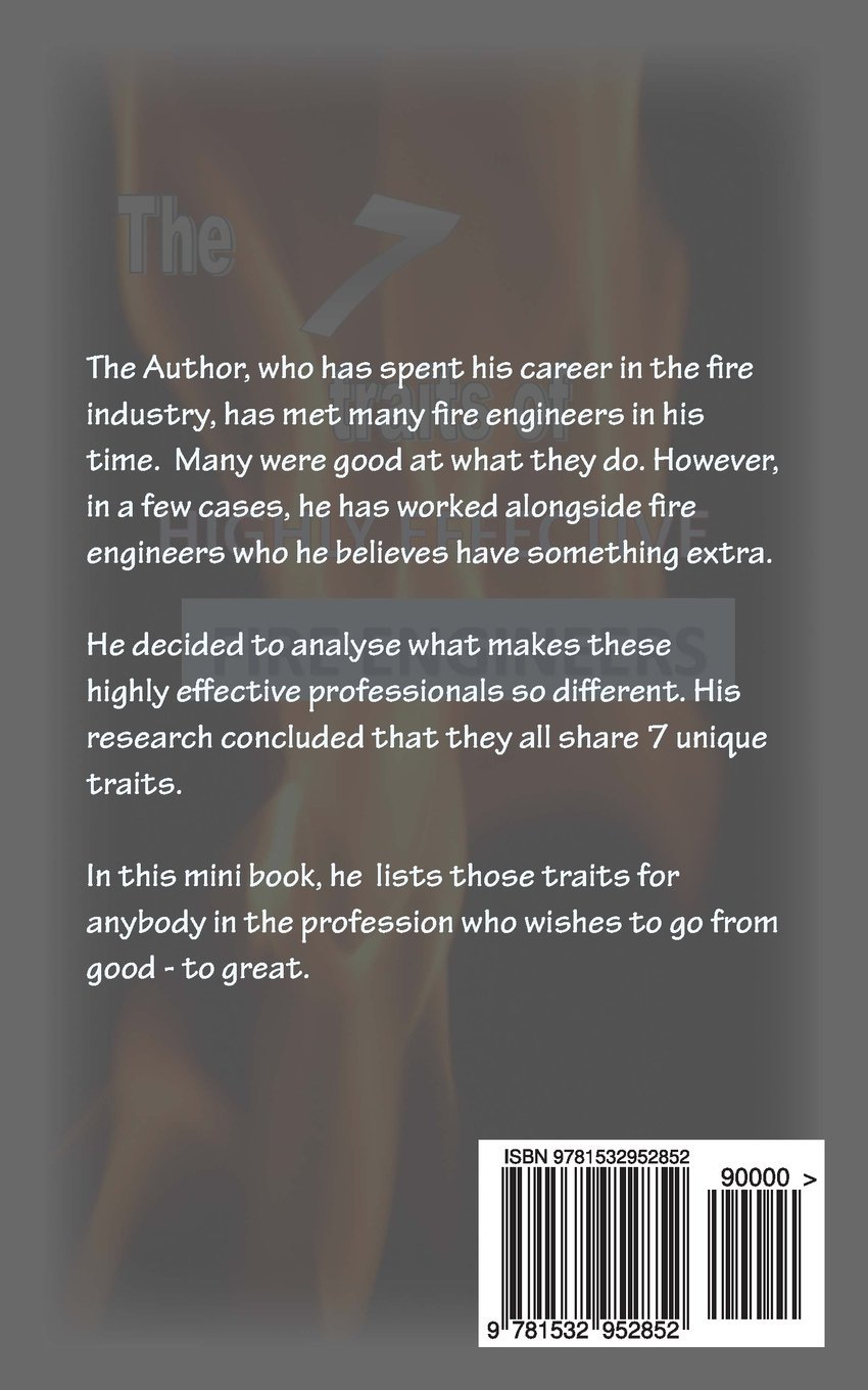 7 traits of highly effective fire engineers: Amazon.co.uk: Paul Bryant:  9781532952852: Books