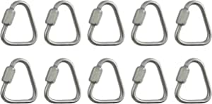 for Chain 8mm Versatile Tri Surge 2 Pieces Stainless Steel 316 Marine Grade Quick Link Carabiner 5//16 Swing Cable Connector and Other Uses Rope