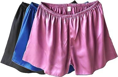 Mens Sleepwear Satin Silk Underwear Boxers Shorts Pants Pyjamas Nightwear ACCS