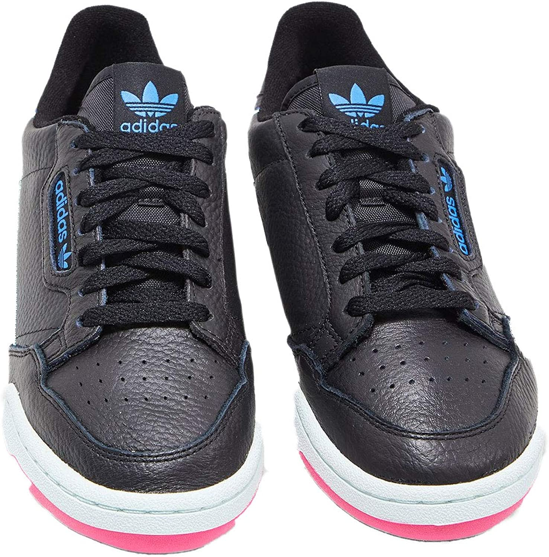adidas Damen Continental 80 W Fitnessschuhe Core Black Hi Res Yellow True Blue