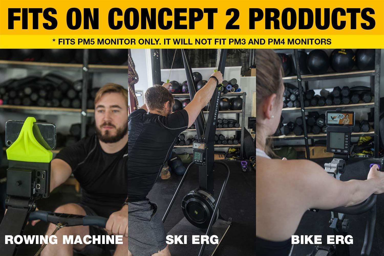 SkiErg y BikeErg Soporte para Smartphone Vapor Fitness Fabricado para m/áquina de Remo Concept 2