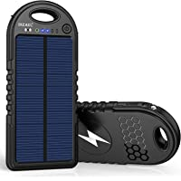 $27 » Solar Charger, 10000mAh Wireless Solar Power Bank, 18W Power Delivery USB C Charger, Type C Input & Output, QC 3.0 & PD Fast Portable…