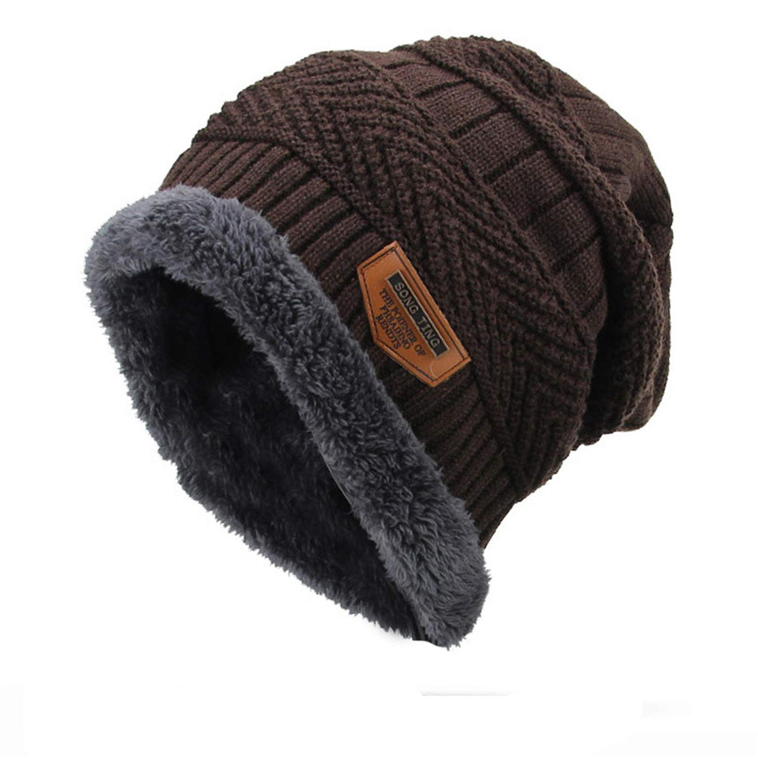 2018 Skullies Beanies Men Winter Hats Thick and Warm and Bonnet Soft Knitted Beanies Women Men Cotton Ball Cap