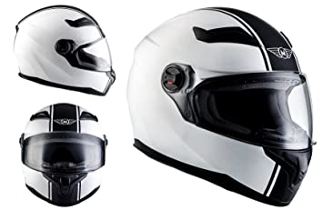 MOTO X86 Racing Matt White · Urban Moto motocicleta Casco Integrale Cruiser Fullface-Helmet Scooter