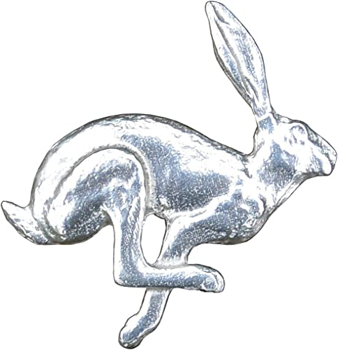 Gift Box Hand Made Rabbits Finest English Pewter Lapel Pin Badge Brooch