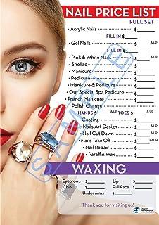 Amazon.com : Nail Salon Price List Poster by Barberwall - Nail Salon ...
