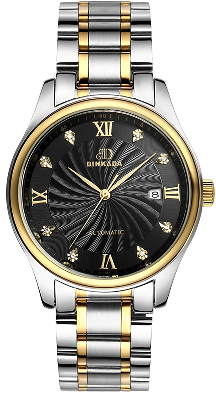 BINKADA Contemporary Auto Mechanical防水ブラックダイヤルメンズ腕時計# 7001 N01 – 4 B01DZK8BP2
