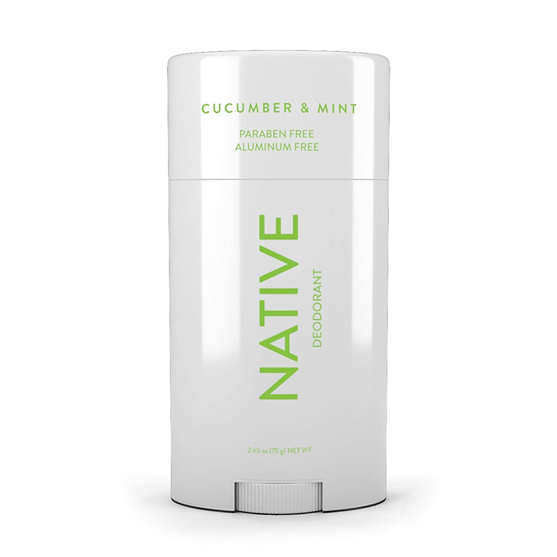 Native Deodorant - Natural Deodorant - Vegan, Gluten Free, Cruelty Free - Free of Aluminum, Parabens & Sulfates - Born in the USA - Cucumber & Mint
