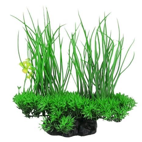Verde Artificial Decoración Long Leaf planta artificial Agua Hierba para Acuario Pecera