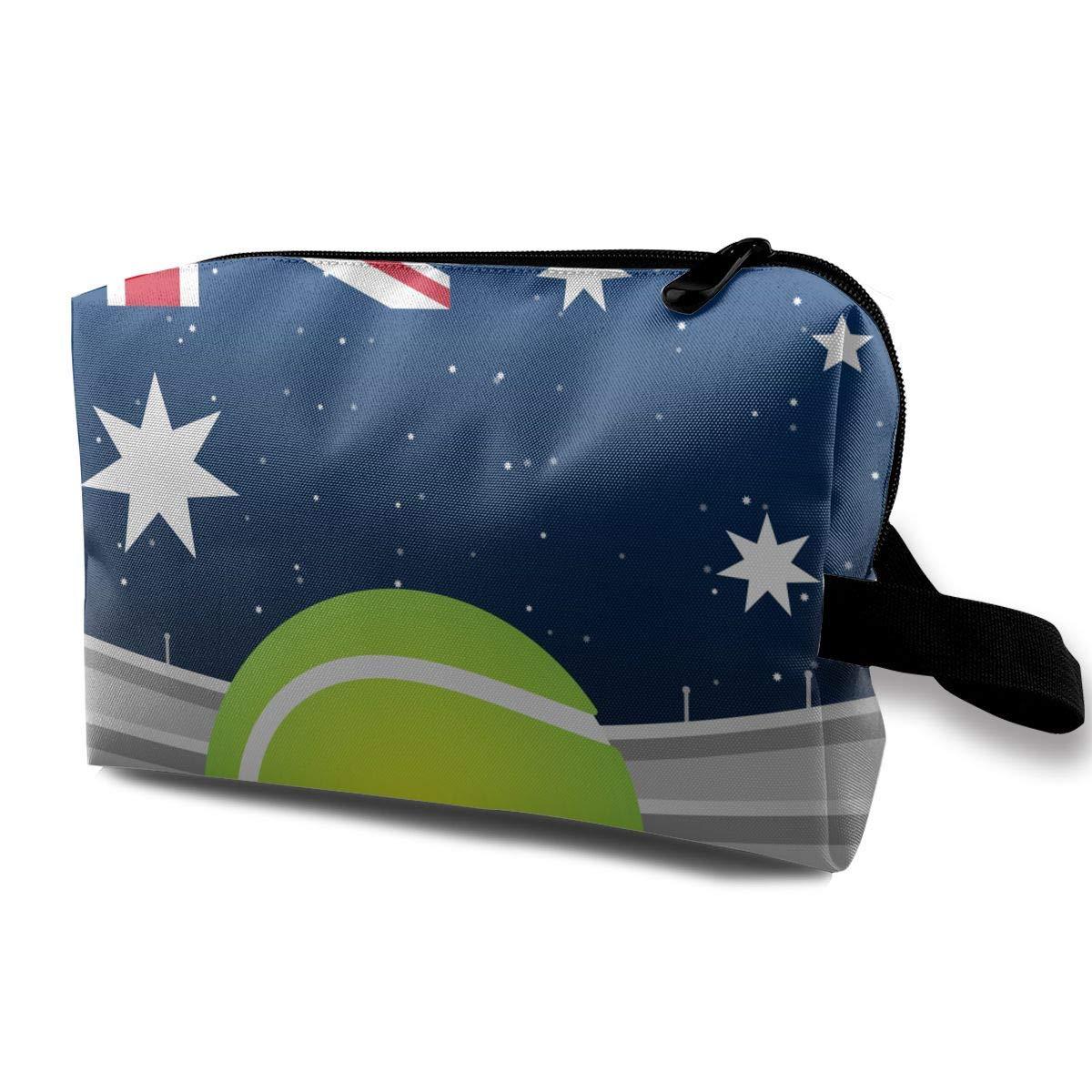 British Flag Tennis Court Small Travel Toiletry Bag Super Light Toiletry Organizer for Overnight Trip Bag