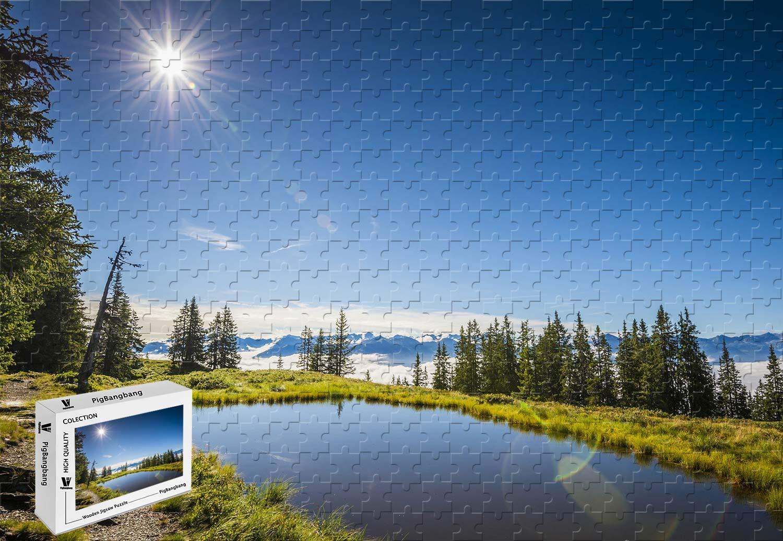 【ついに再販開始!】 PigBangbang,20.6 X X - 15.1インチの木製 B07HY6LB18 - 夏のオーストリア湖の草木 サンブルースカイ - 500ピースジグソーパズル B07HY6LB18, 吉通ドラッグ:dbab1478 --- sinefi.org.br