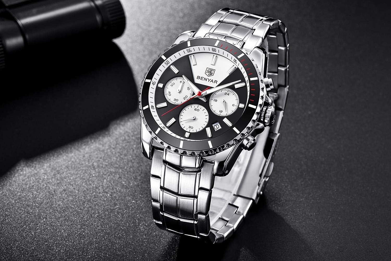 Armbandsur, sport utomhus multifunktionell fyrkantig klocka SVART