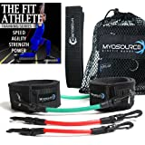 Kinetic Bands Leg Resistance Exercise Bands for Athletic Performance and Fitness Training. Work To Increase Sprint Speed, Acceleration, Agility, Strength, Power. Digital Training Videos, Workout Guide