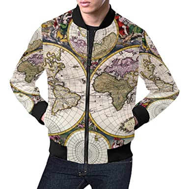 Amazon vintage old world map mens 3d printed full zip casual vintage old world map mens 3d printed full zip casual jacket gumiabroncs Images