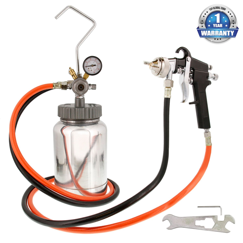 Paint Spray Gun Kit Part - 16: Amazon.com: 2 Quart Paint Pressure Pot With Spray Gun And 5u0027 Air And Fluid  Hose Assembly: Home Improvement