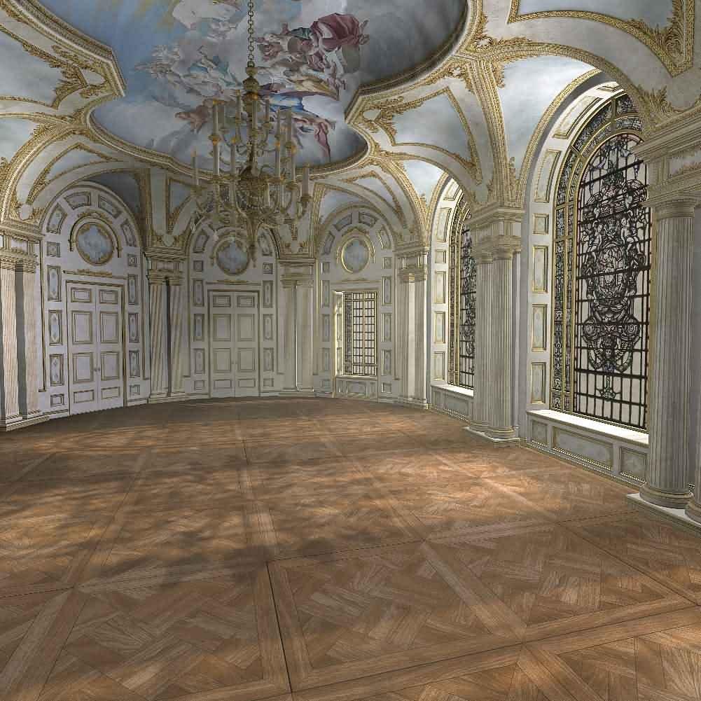 GladsBuy 豪華宮殿 8フィート x 8フィート デジタル印刷写真背景 屋内テーマ背景 YHB-196   B073G1GV26