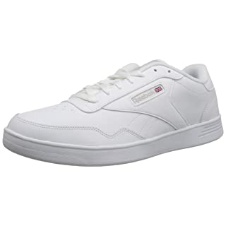 Reebok Men's Club Memt Fashion Sneaker, White/Steel, 6.5 M US