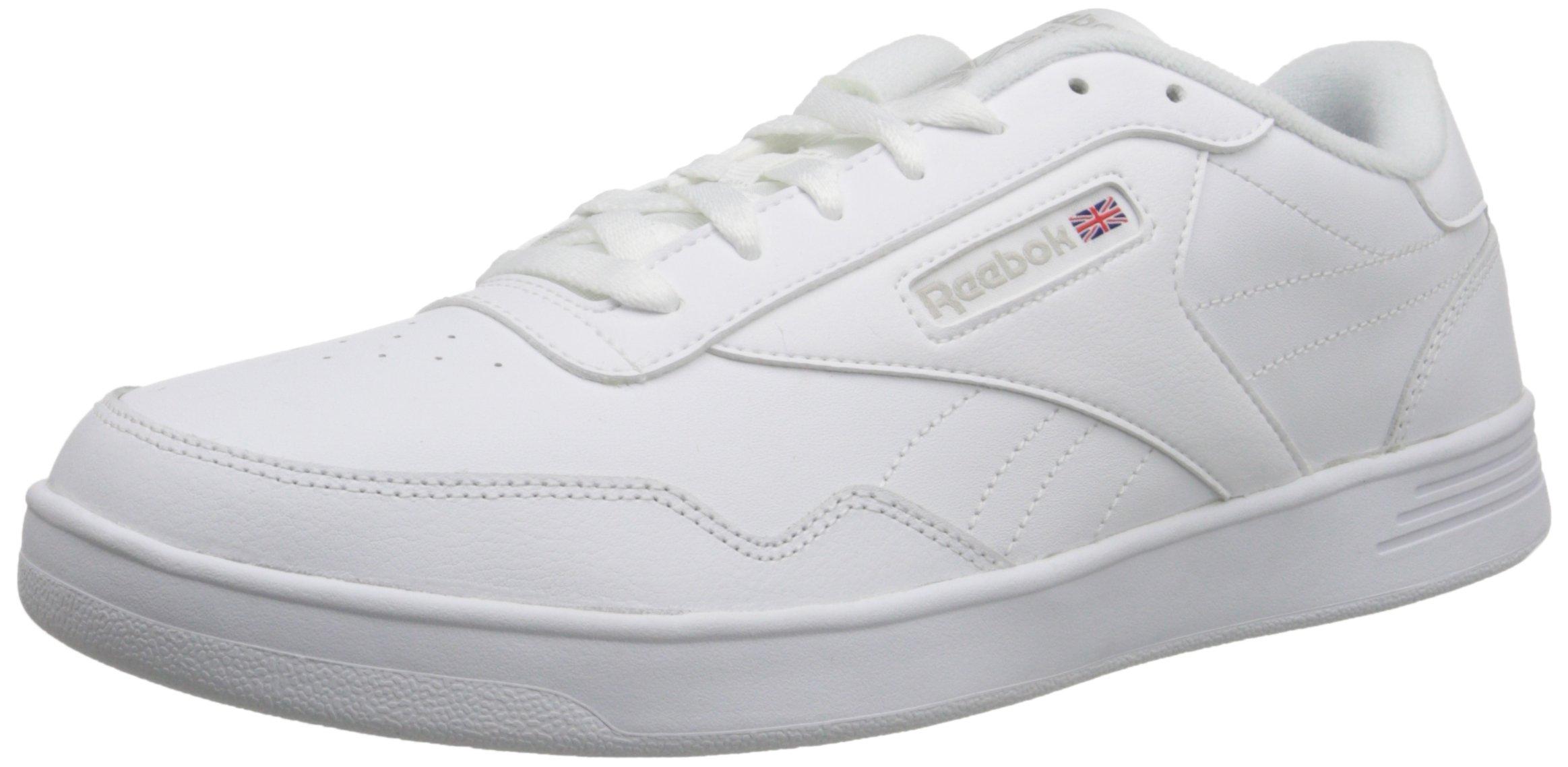Reebok Men's Club Memt Fashion Sneaker, White/Steel, 8.5 4E US