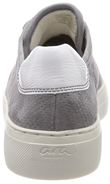 ARA Damen Courtyard Sneaker Grau  Grau Sneaker (Rauch, Street/Weiss) ec990a
