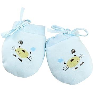 3 paires de mouffles Affe - Pour bébé - Mixte - En coton bleu bleu Nouveau b9ab536bb55