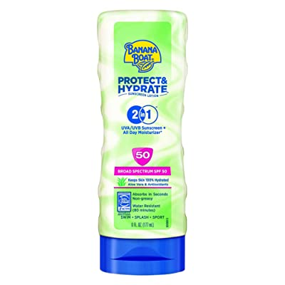 Banana Boat Sunscreen Protect and Hydrate Moisturizing Broad Spectrum Sun Care Sunscreen Lotion - SPF 50, 6 Ounce by Banana Boat