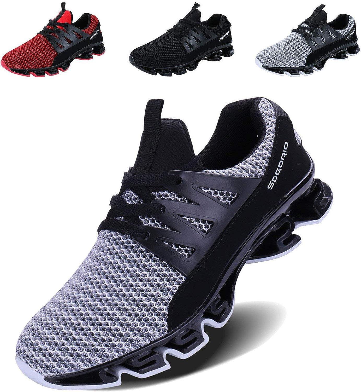 TALLA 45 EU. LSGEGO Zapatillas de Running para Hombre Zapatillas de Deporte Ligeras y Transpirables Zapatillas de Deporte atléticas Circulares Sneaker