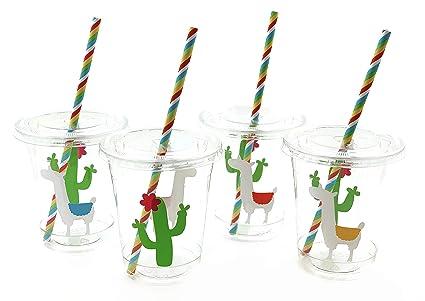 Amazon.com: Vasos de fiesta de Llama Cactus brillantes ...