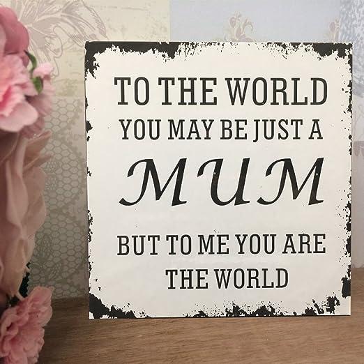 Día de la madre cumpleaños Navidad regalo Shabby Vintage ...