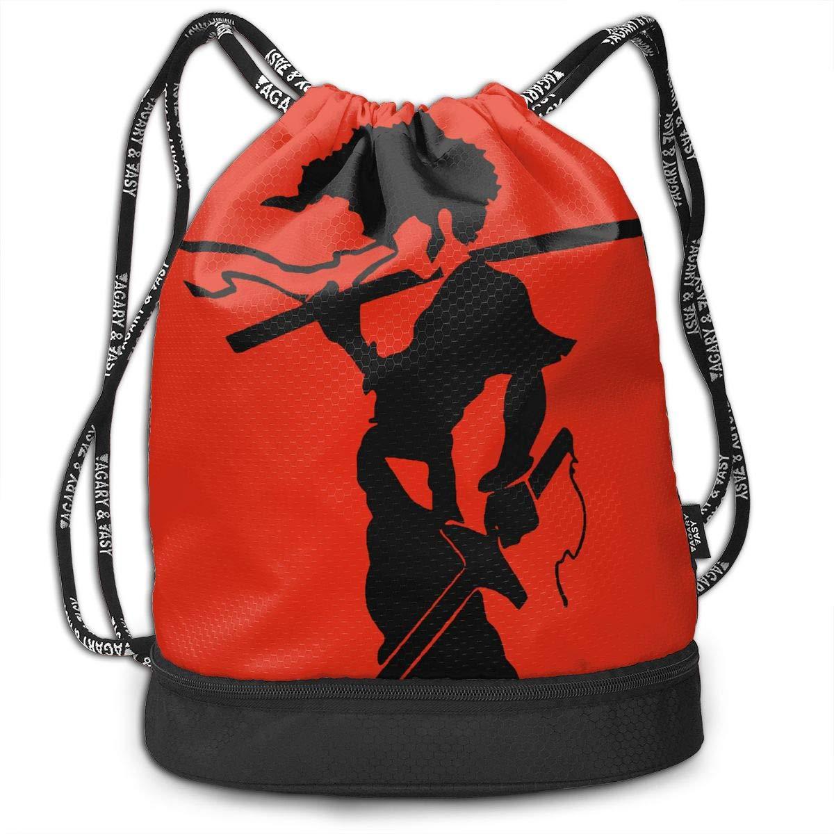 Efgaf Men And Women General Travel Backpack Afro Samurai Versatile Unique Design Backpack Bag