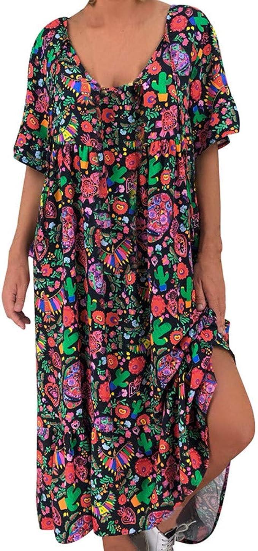 Damen elegante Kleid Tunika Oversize Grosse Grössen