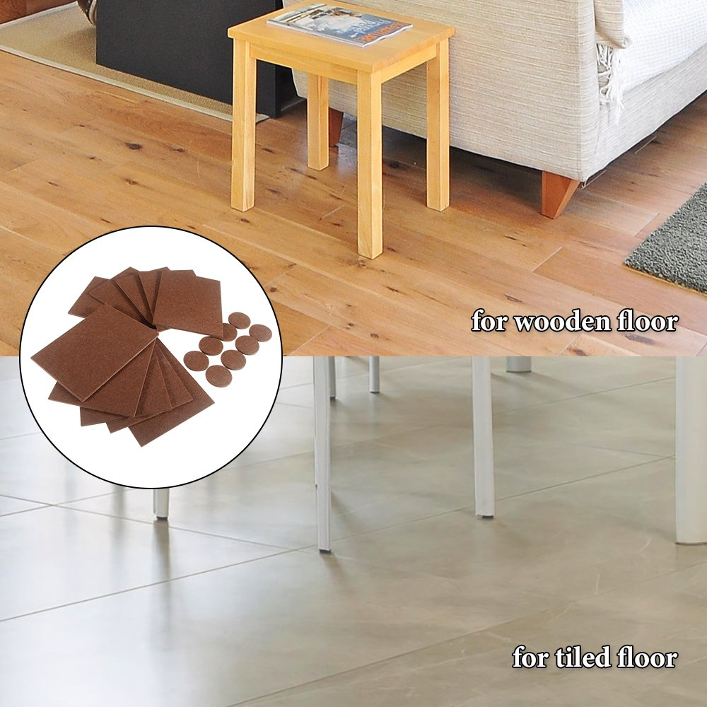 Furniture Pads, IdealHouse Felt No Scratch Furniture Pads on Hardwood Floors Large Floor Furniture Protectors Pads Rectangle Felt Chair Sliders 18 Pieces by IDEALHOUSE (Image #5)