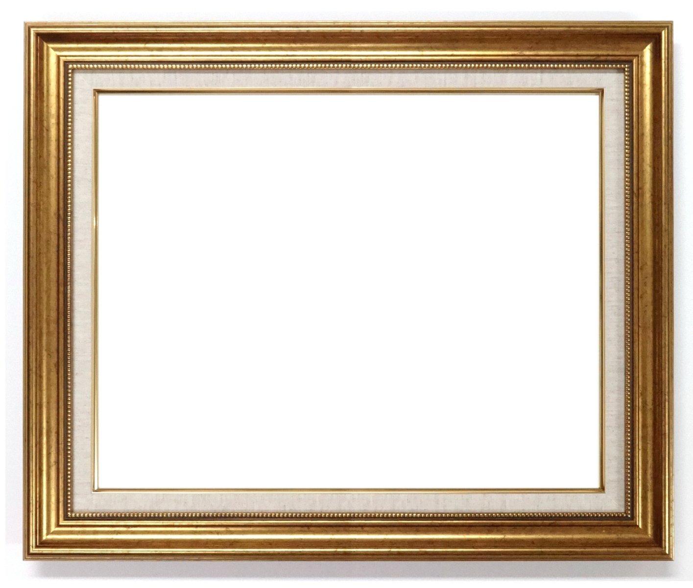 大額 油彩用額縁 8111 アクリル仕様 壁用フック付 (F10, ゴールド) B01K6GGDFI F10|ゴールド ゴールド F10