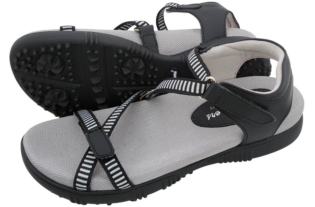 Sandbaggers Galia Women's Golf Sandals (7, Black) by Sandbaggers