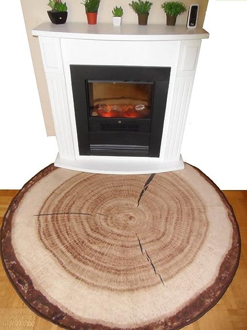 Bringen Sie Die Natur In Ihr Wohnzimmer Baumstamm Teppich Baumscheibe Teppich Baumscheibenteppich Baumstammteppich Teppich Rund Baumstamm