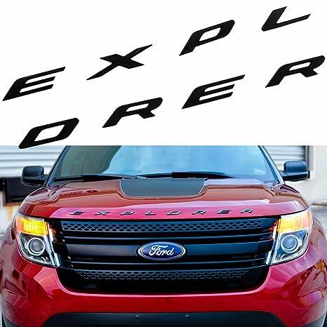 1 Set Sporty Matte Black ABS Front Hood Emblem 3D Letters EXPLORER Stickers Fit Ford 2011 2017