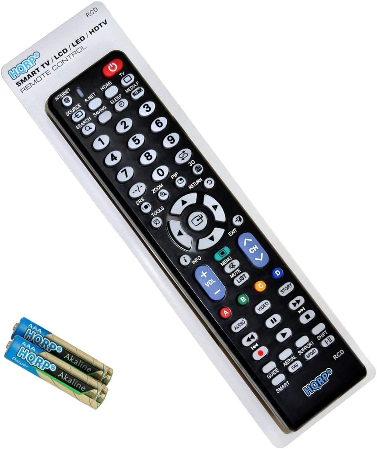 HQRP Remote Control Works with Samsung HP-R5072 HP-R6372 HP-R8082 HP-S4233 HP-S4253 HP-S4273 LCD LED HD Smart TV