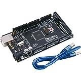 ELEGOO Carte Mega 2560 R3 ATMEGA 16U2 Micro Contrôleur Module Board avec Câble USB pour Arduino Board Noir