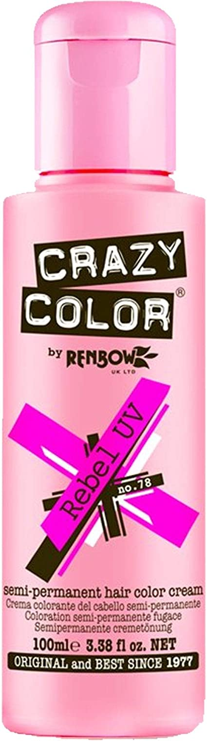 Crazy Color 78 Rebel Uv 100 ml (Rosa)