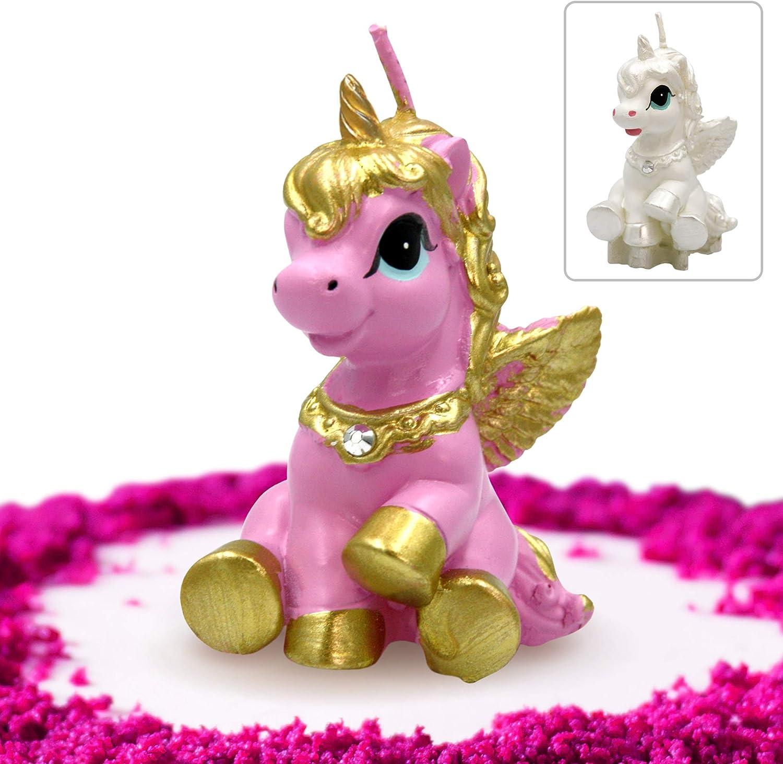 Premium Quality Unicorn Candle Cake Topper in Gift Box GET FRESH Unicorn Candle for Birthday and Wedding Elegant Unicorn Cake Decoration Candle for Any Occasion Pink Unicorn Birthday Candle