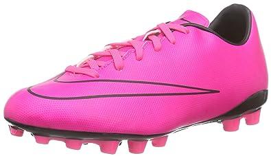sports shoes 4df62 44741 Nike Unisex-Kinder Junior Mercurial Victory V AG Fußballschuhe Hyper Pink  Blk), 35