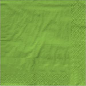 Creative Converting BEVERAGE NAPKIN 2PLY, 5 x 5, Fresh Lime